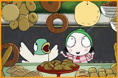 Sarah and duck shop windows