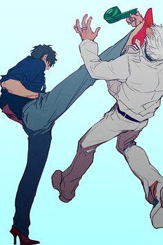 Steven is working those heels XD Anime Guys, Manga Anime, Gang Road, Blood Blockade Battlefront, Cartoon Man, Drawing Reference Poses, Illustration Sketches, Manga Comics, Concept Art