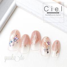 Japanese Nail Art, Pretty Nail Designs, Nail Inspo, Summer Nails, Pretty Nails, Nail Colors, Salons, Manicure, Hair Beauty