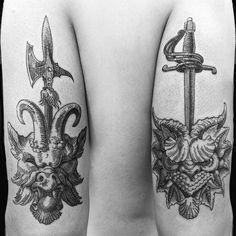 jiangdi01 4 weeks ago #tattoo #tattooes #tattooart #art#gothic #blackwork #blackworkers