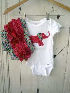 Toddler Ruffled Diaper Cover Set with Elephant by zoegirldesigns, $33.50 Charlotte needs this!