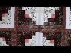 Log Cabin Quilt Block using Honey Bun Strips - YouTube