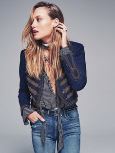 Cute jacket! 7 Outfit Ideas From Free People's New Lookbook via @WhoWhatWear