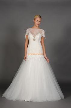 A-linie Exklusive Hochzeitskleider aus Softnetz