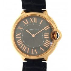 BALLON BLEU ULTRA THIN 3661 PINK GOLD, 40MM Cartier, Pink And Gold, Watches, Accessories, Clocks, Clock, Ornament