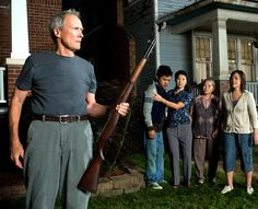 Clint Eastwood in Gran Torino - Valjean and Walt save a kid from death