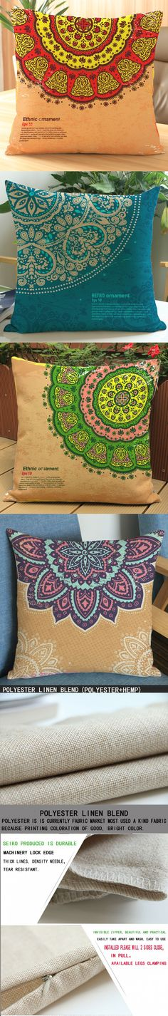 Factory outlets Vintage American country Square Pattern printing Luxury home Decorate Car sofa seat cushion cushions pillow $3.99