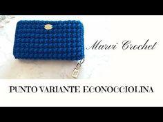Crochet Bag Tutorials, Crochet Patterns, Crochet Baby, Knit Crochet, Crochet Wallet, Photo Pattern, Macrame Bag, Knitted Bags, Diy And Crafts