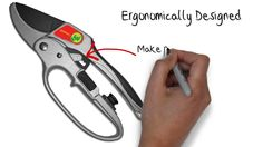 Spring Means Gardener's Friend 3 Stage Ratchet Pruners - Secateurs For Hand Mobility Problems