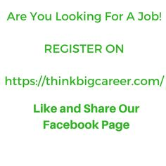 ThinkbigcareerCom Is A Fastest Growing Recruitment And Career