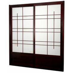 Buy Low Price Oriental Furniture Eudes Shoji Double Sliding Door ...