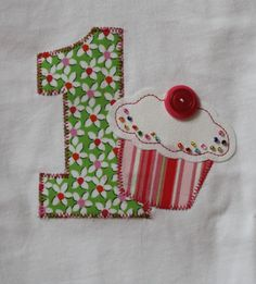 Birthday applique.  I know who I will be making this for!