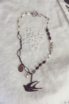 She Soars High Vintage Restyled Jewelry by violetsarebleu