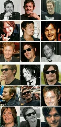 Many faces of Norman Reedus. I am drawn to his unconventional looks and dynamic charisma. Yow.
