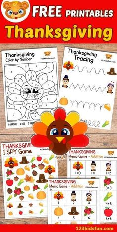 We've got your FREE Thanksgiving printables and worksheet for kids. Thanksgiving Day will be a great time for your Kids will all of our activities for toddlers and preschoolers.