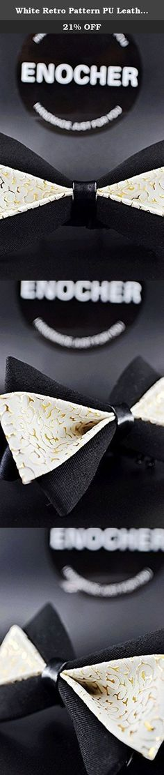 White Retro Pattern PU Leather Inlay Bow Tie,Men Bow Tie, Self Tie Bow Tie, Bow Tie For Men, Gentleman, Business, Wedding, Party, Show,Gift,Fashion,Cool. Bow tie is becoming more a popular accessory. makes your look unique, because every bow tie has its own special color and texture that will differentiate it from each other, which will give each product its exclusivity. ENOCHER bow tie is a perfect gift for someone you love. Be fashionable and exclusive with ENOCHER.Give you different...