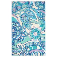 High-Def Paisley Rug, 3x5, Cool