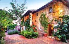 Owned by the same family since the 1500s, the Villa Le Barone offers vistas of the surrounding countryside, olive groves and vineyards of Chianti Classico. Come with Backroads on a Walking & Hiking Tour through Cinque Terre and Tuscany for a two-night stay at this exquisite 4-star hotel. https://www.backroads.com/trips/WQTQ?p=D546 #tuscany #chianti #mybackroadstrip
