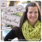 Infinity Scarf made with Arm Knitting. You can make this scarf in 30 min! This is my favorite Pinterest craft I have ever done! www.thepinningmama.com