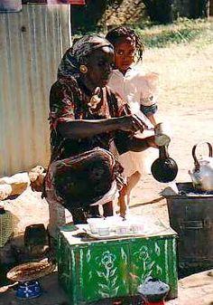 Aksum, Ethiopia, coffee stand