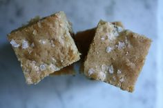 Salted Toffee Blondies