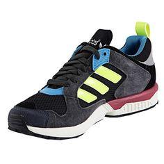 Schwarze #Sneaker mit #Neonstreifen ab 89,90€ Hier kaufen: http://stylefru.it/s920311 #sportschuhe #adidas #neon