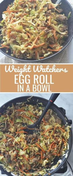 Weight Watchers - Egg Roll in a Bowl Recipe Diaries lowcarb lowcarbdiet weightwatchers chinesefood 502081058455107789 Skinny Recipes, Ww Recipes, Asian Recipes, Low Carb Recipes, Cooking Recipes, Recipies, Cooking Ham, Cooking Pasta, Simple Recipes