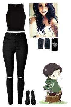 """""""Levi Ackerman"""" by she-demon ❤ liked on Polyvore featuring beauty, Zanellato, River Island and Casetify"""