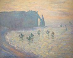 'The Beach at Étretat' by Claude Monet, 1885-86, Pushkin Museum
