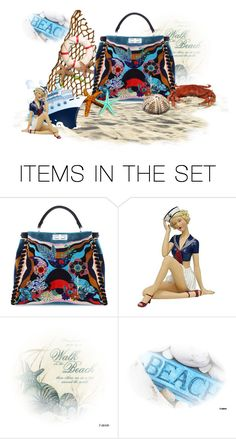 """Fendi To The Beach"" by sjlew ❤ liked on Polyvore featuring art"
