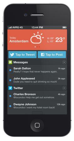 UI Design Dribbble - notificationcenter__2x.png by Robert van Klinken