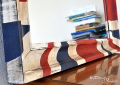 DIY distressed Union Jack mirror!