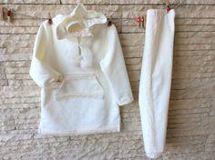 Completo di felpa in cotone color avorio maglia con di Magicamaria