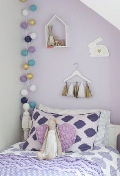 Lilac and grey girls bedroom a young girls lavender bedroom apartment therapy home decorations ideas for . Lavender Girls Rooms, Lavender Room, Girls Room Purple, Girls Bedroom Colors, Light Purple Bedrooms, Purple Bedroom Accents, Purple Bedroom Decor, Purple Accents, Purple Walls