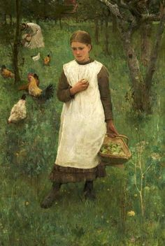 In The Orchard ~ George Clausen (1852 – 1944, English) @@@.....http://es.pinterest.com/mariaalicegoula/trabalho-feminino/