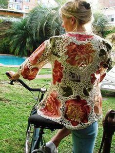 facebook.com Freeform Crochet, Crochet Art, Knit Or Crochet, Irish Crochet, Lace Knitting, Crochet Jacket, Crochet Cardigan, Crotchet Patterns, Irish Lace
