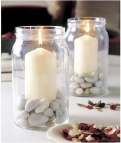 la decoración de mis mesas: Ideas decorativas: tarros de cristal