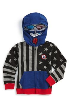 Volcom 'Merry Ku' Mask Hoodie (Toddler Boys, Little Boys & Big Boys) available at #Nordstrom