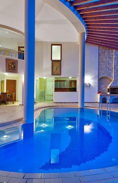 Interior swimming pool in Platanias Villas, Chania, Crete