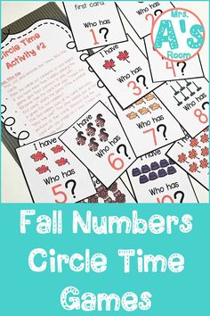 These circle time games are packed full of numbers and counting skills! The ideas and activities in this resource will keep your preschool and kindergarten kiddos engaged and learning throughout your fall theme! All three printable games are ready to print, cut, and use! #preschool #kindergarten #circletime #falltheme #countingactivities #numbersactivities Kindergarten Themes, Preschool Themes, Preschool Kindergarten, Number Activities, Counting Activities, Learning Centers, Math Centers, Circle Time Games, Counting For Kids