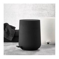 WADIGA - Poubelle de Salle de Bain Design Noire Soft Touch - 5L | La Redoute