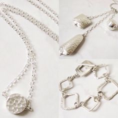 Fine sterling silver jewelry make excellent gifts.  I love these hammered beads and links!