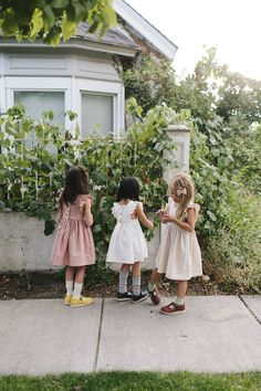 Wren & James linen pinafore dresses in Dusty Rose, Ivory and Natural: timeless, classic, nostalgic, heirloom, vintage