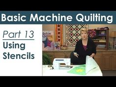 Using a Stencil for Machine Quilting - YouTube