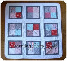 I got several requests to share the pattern for the Charming Baby Quilt I finished recently , so I put together a little tutorial.  This qu...