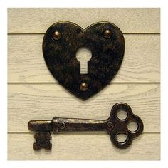 lock and key wall plaque...could use as decor at ceremony or reception either hung up or on a table...$9.00 from Kohls