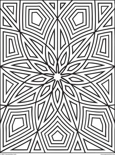 printable geometric geometric patterns for kids to color coloring
