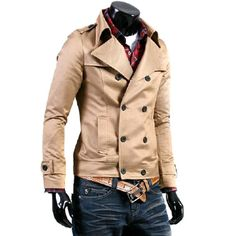 Halloween SALE! Men's Double Breasted Short Jacket (Black, Beige) now only $39.95 (reg 59.95). Exp 10/31st!