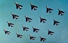 English Electric / BAC Lightnings. September, 1970. RAF COLTISHALL.