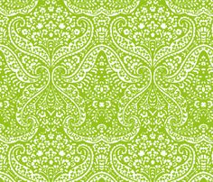 IKAT_CACHEMIRE_APPLE_GREEN by ginger&cardamôme